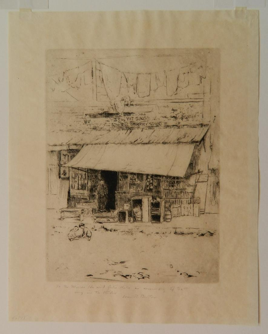 L. Barton; A. Barone - 3 etchings - 2