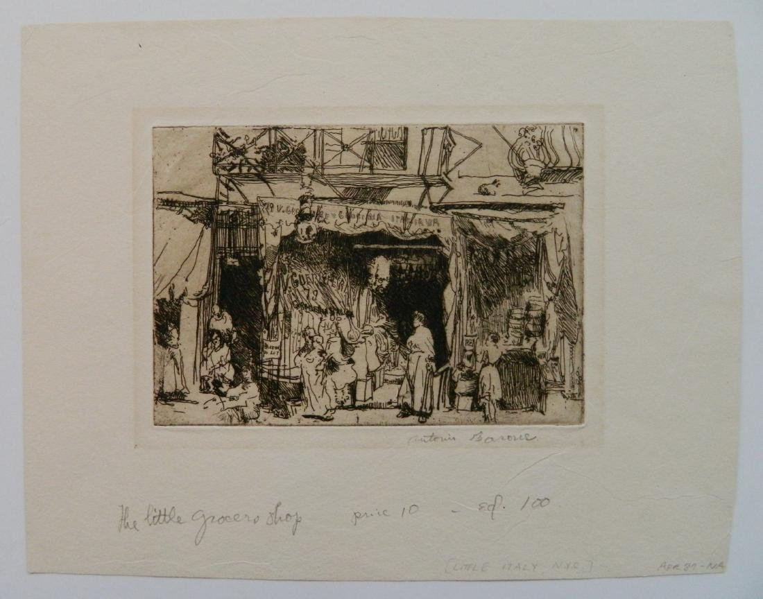 L. Barton; A. Barone - 3 etchings - 8