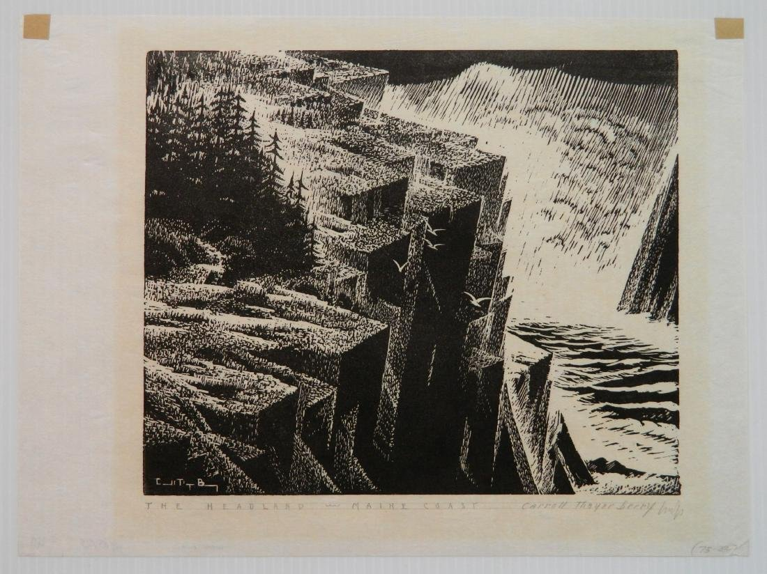 Carroll Thayer Berry wood engraving - 2