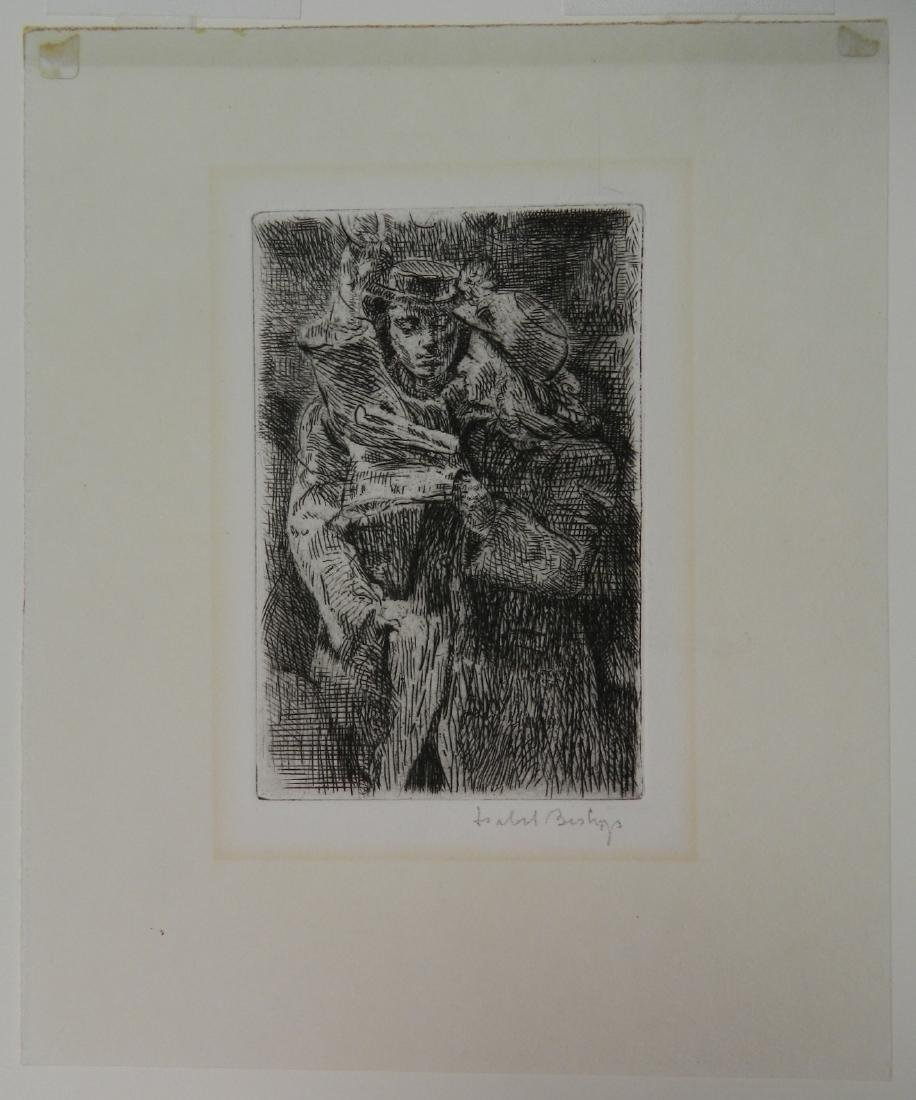 Isabel Bishop drypoint - 2