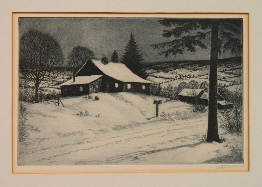 George Bradshaw etching - 2