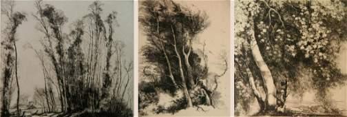 Mildred Bryant Brooks 2 etchings