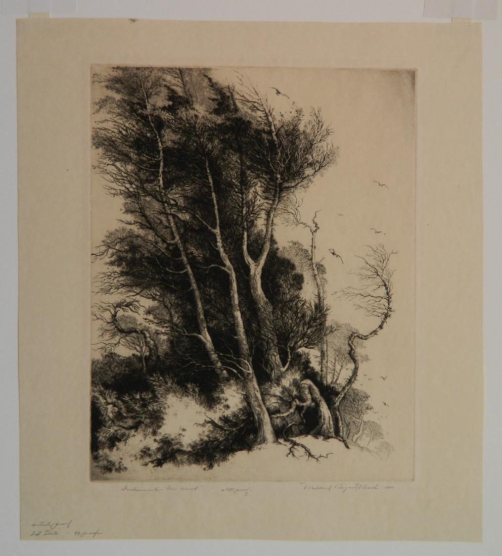 Mildred Bryant Brooks 2 etchings - 2