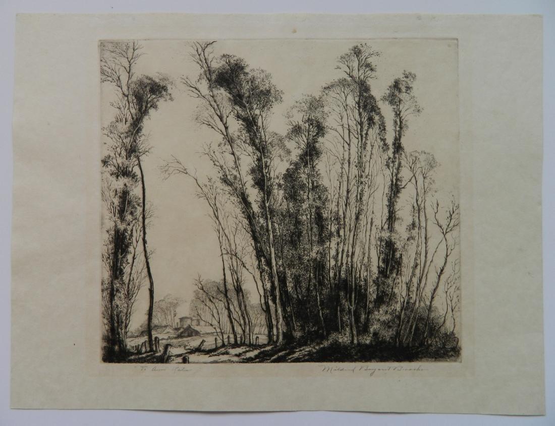 Mildred Bryant Brooks 2 etchings - 5
