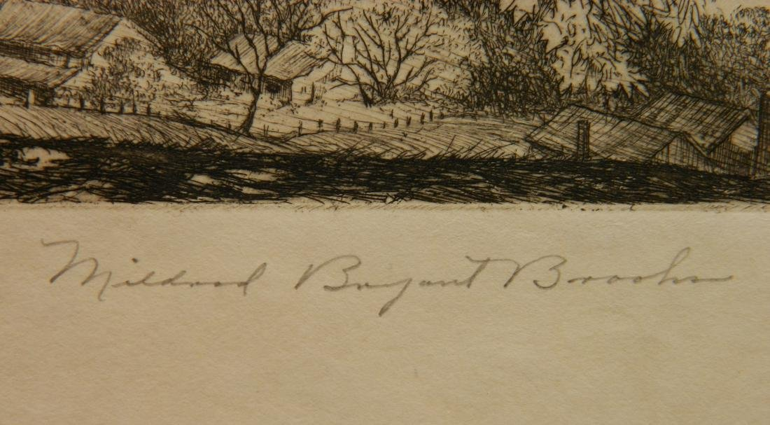 Mildred Bryant Brooks 2 etchings - 9
