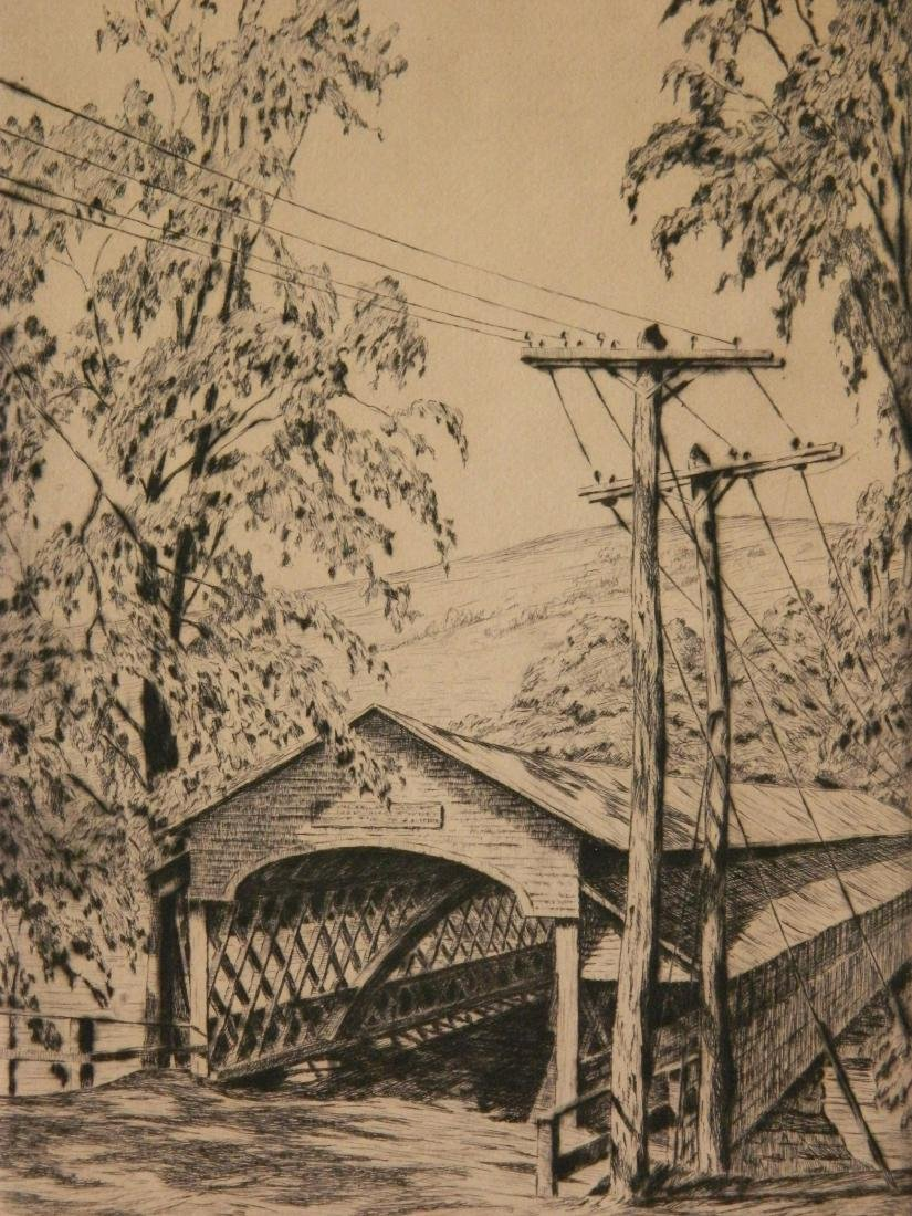 Alice Standish Buell etching and drypoint
