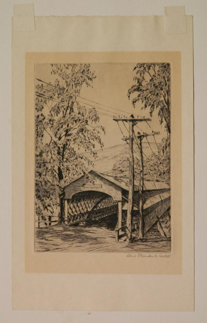 Alice Standish Buell etching and drypoint - 2