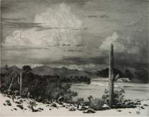 George E. Burr etching