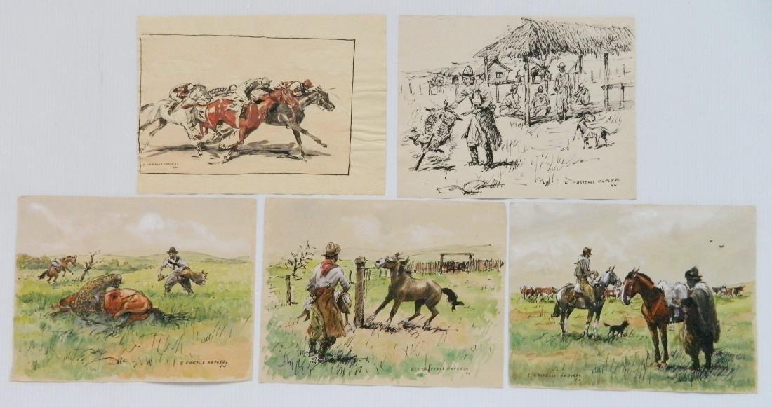 Enrique Castells Capurro 5 ink and watercolors