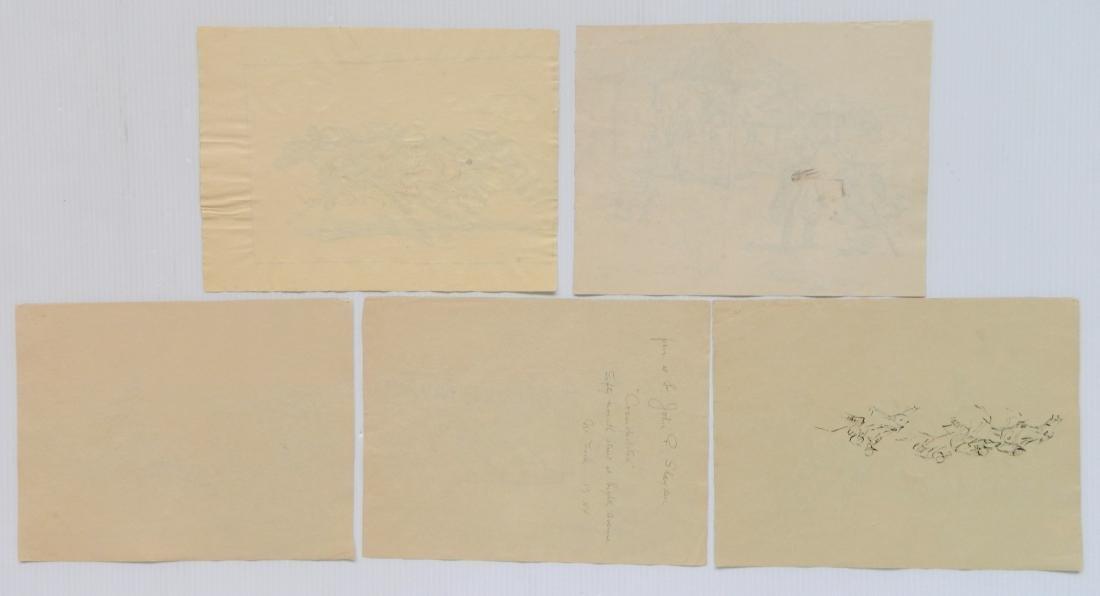 Enrique Castells Capurro 5 ink and watercolors - 2
