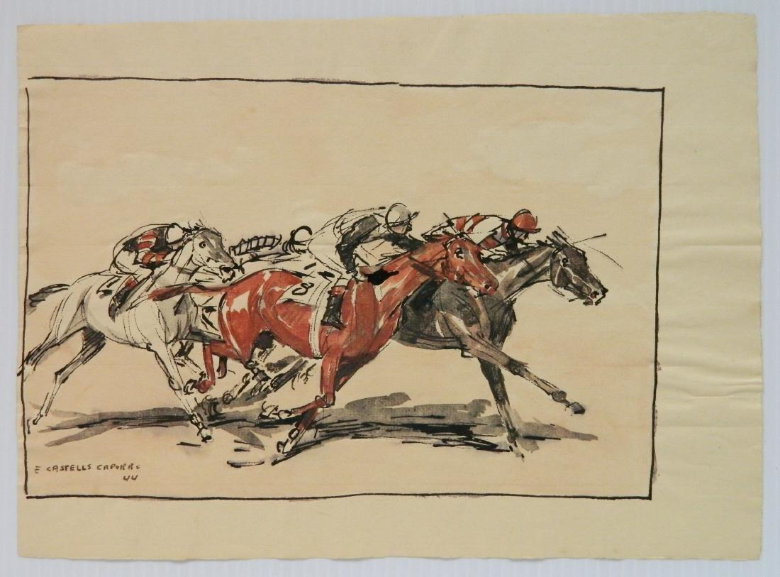 Enrique Castells Capurro 5 ink and watercolors - 3
