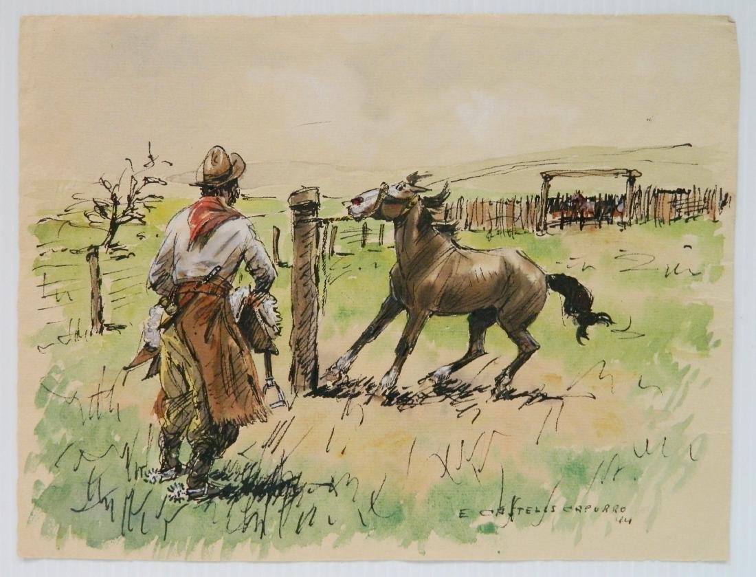 Enrique Castells Capurro 5 ink and watercolors - 6