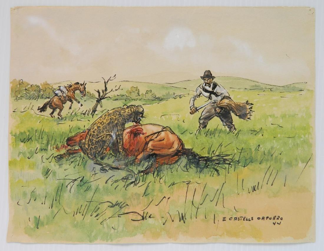 Enrique Castells Capurro 5 ink and watercolors - 7