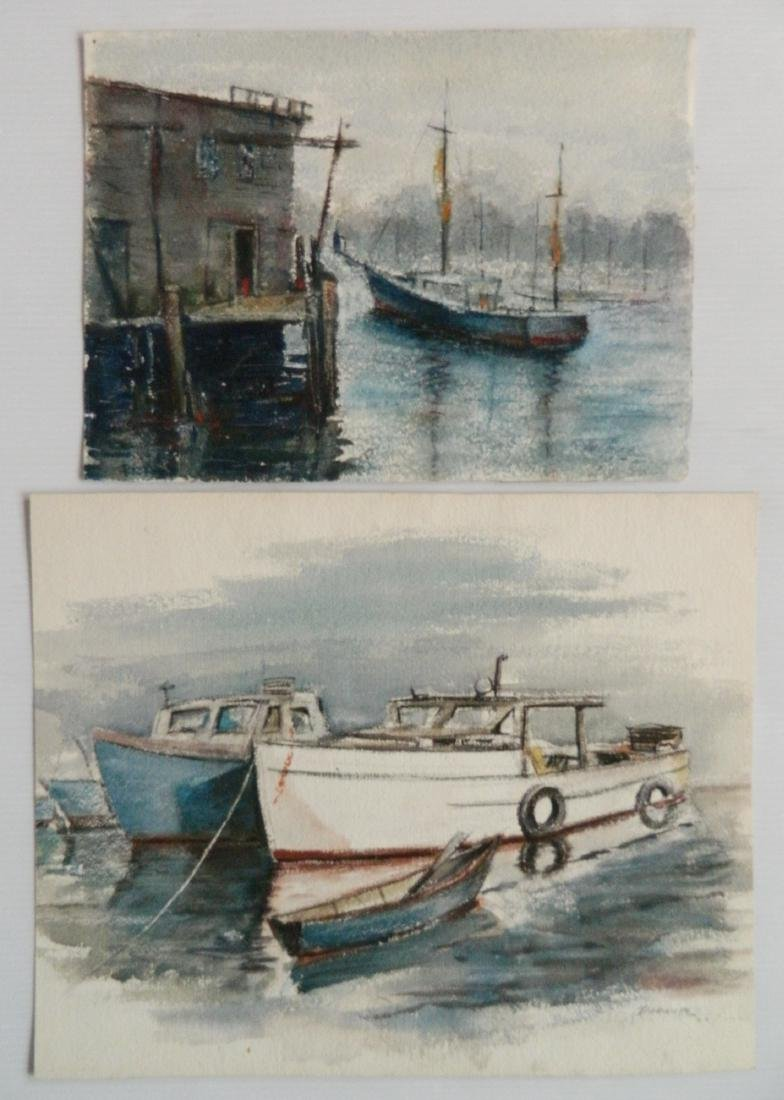 Michael Dadante 13 watercolors and pastel - 3