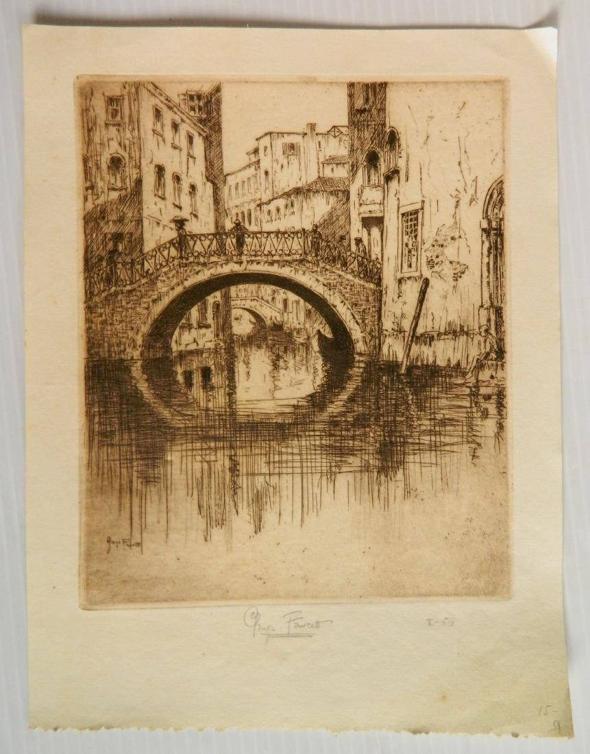 George Fawcett  etchings - 2