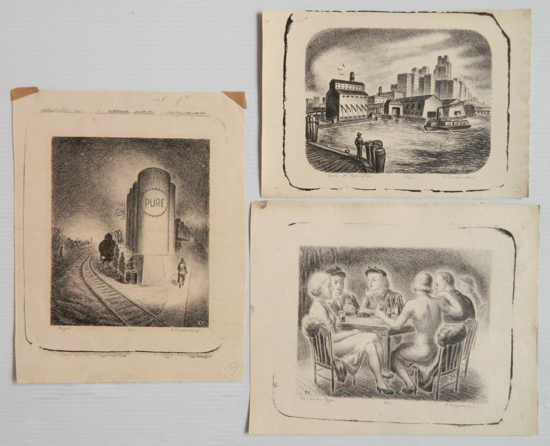 Edward Ferguson 3 lithographs