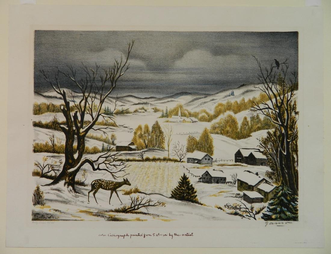 Emil Ganso lithograph - 2