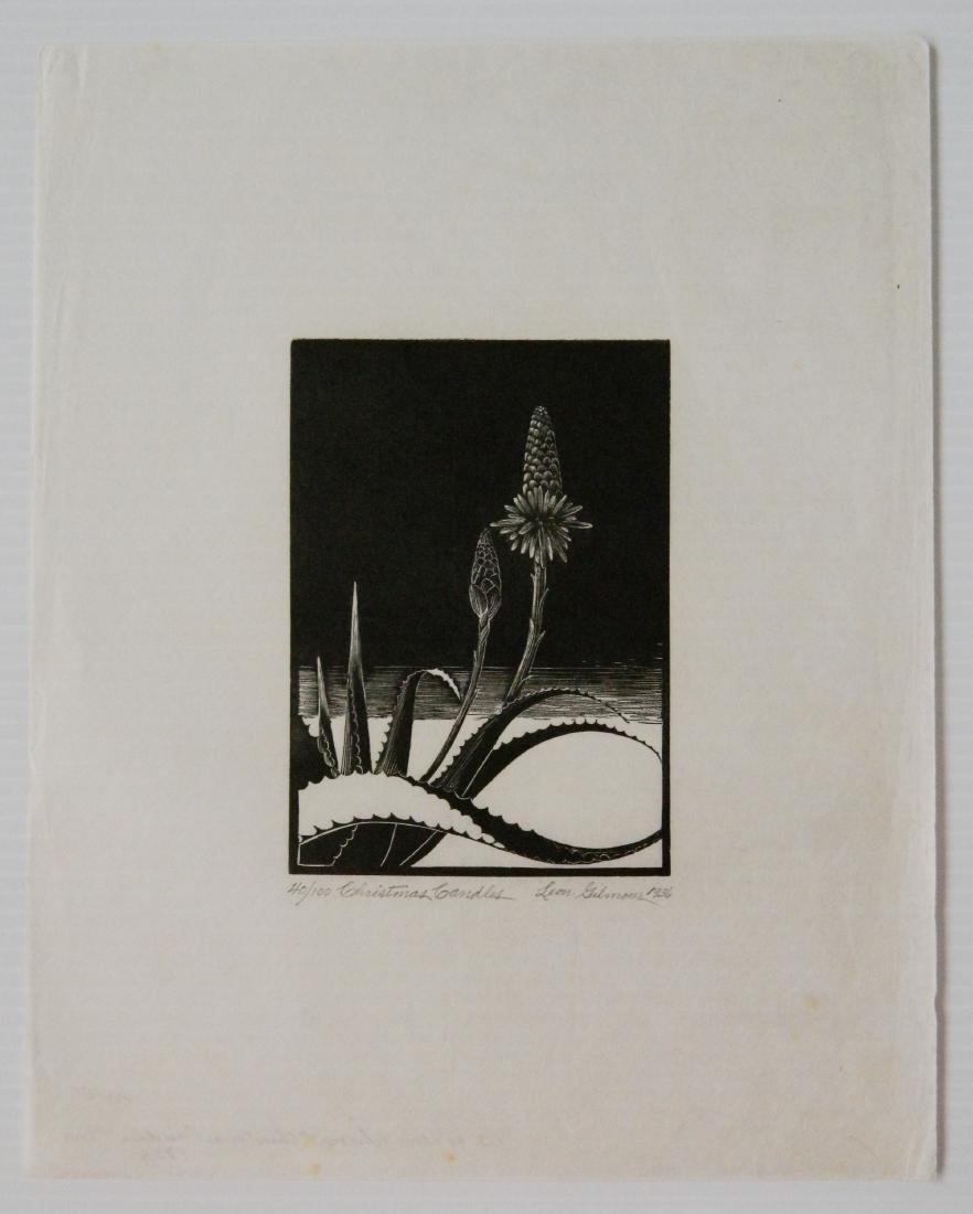 Leon Gilmour 2 wood engravings - 2