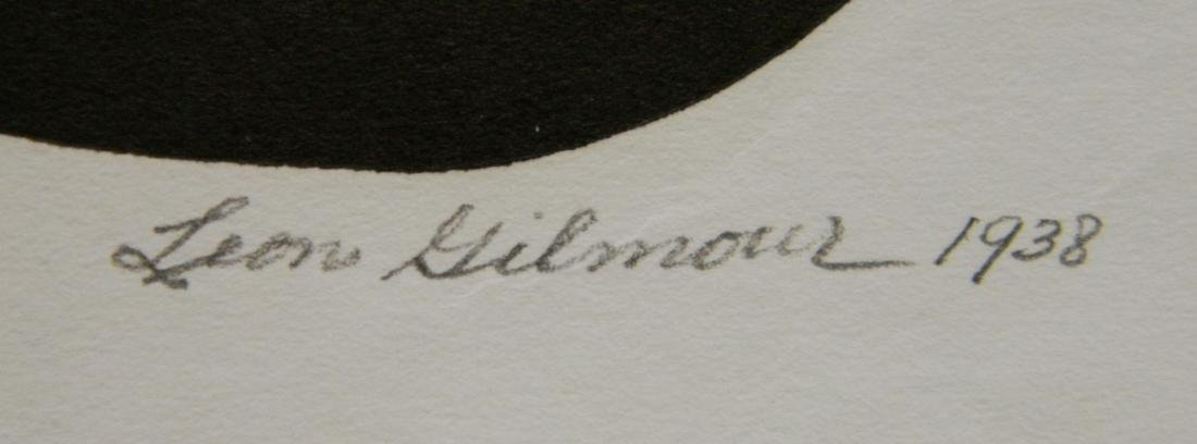 Leon Gilmour 2 wood engravings - 6