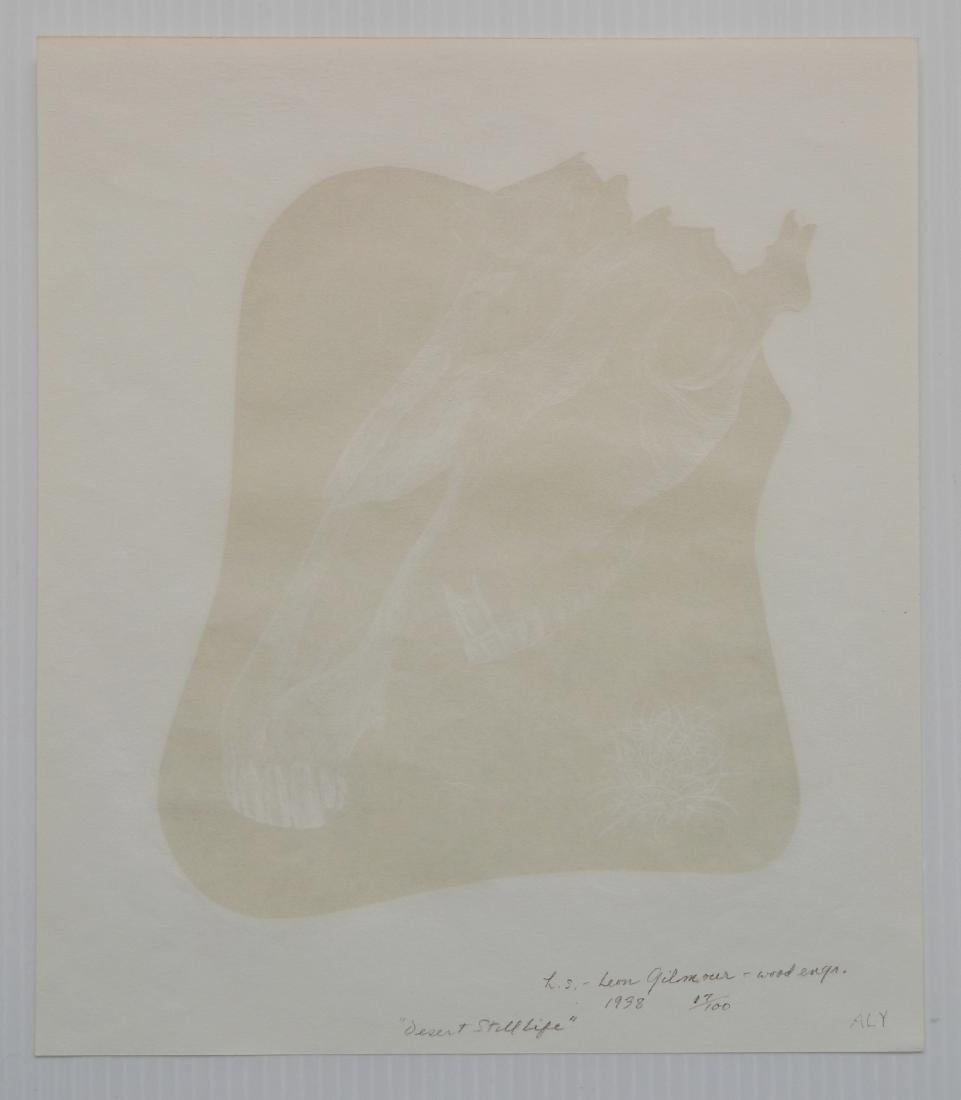 Leon Gilmour 2 wood engravings - 7