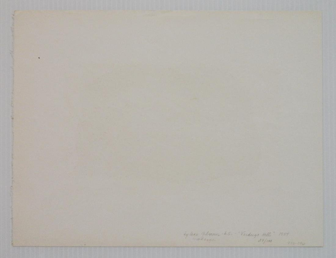 Leon Gilmour 2 wood engravings - 4
