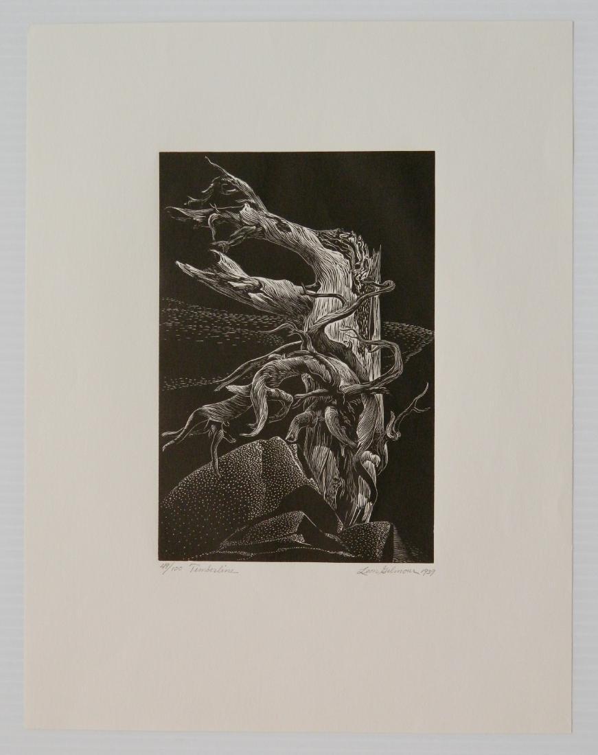 Leon Gilmour 2 wood engravings - 5