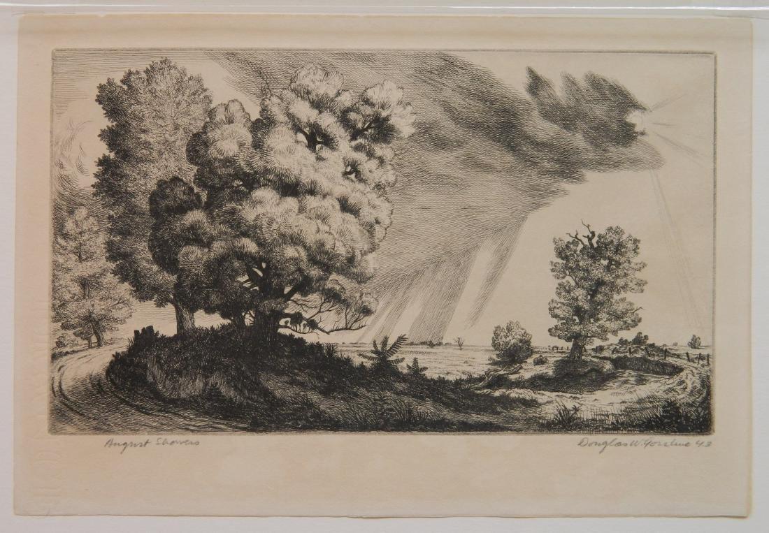 Douglas Gorsline etching - 2
