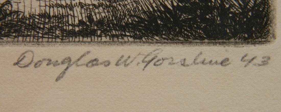 Douglas Gorsline etching - 3