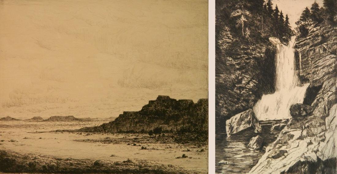 Albert L. Groll 2 etchings