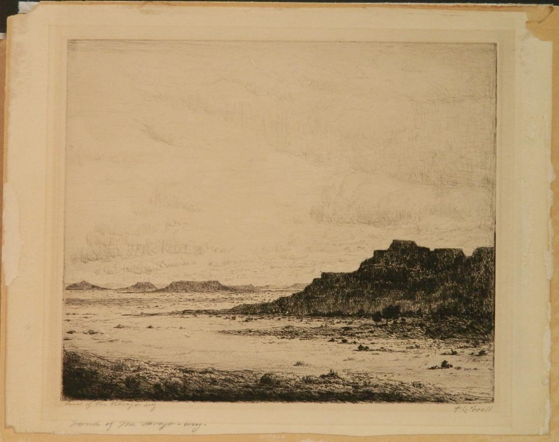 Albert L. Groll 2 etchings - 2