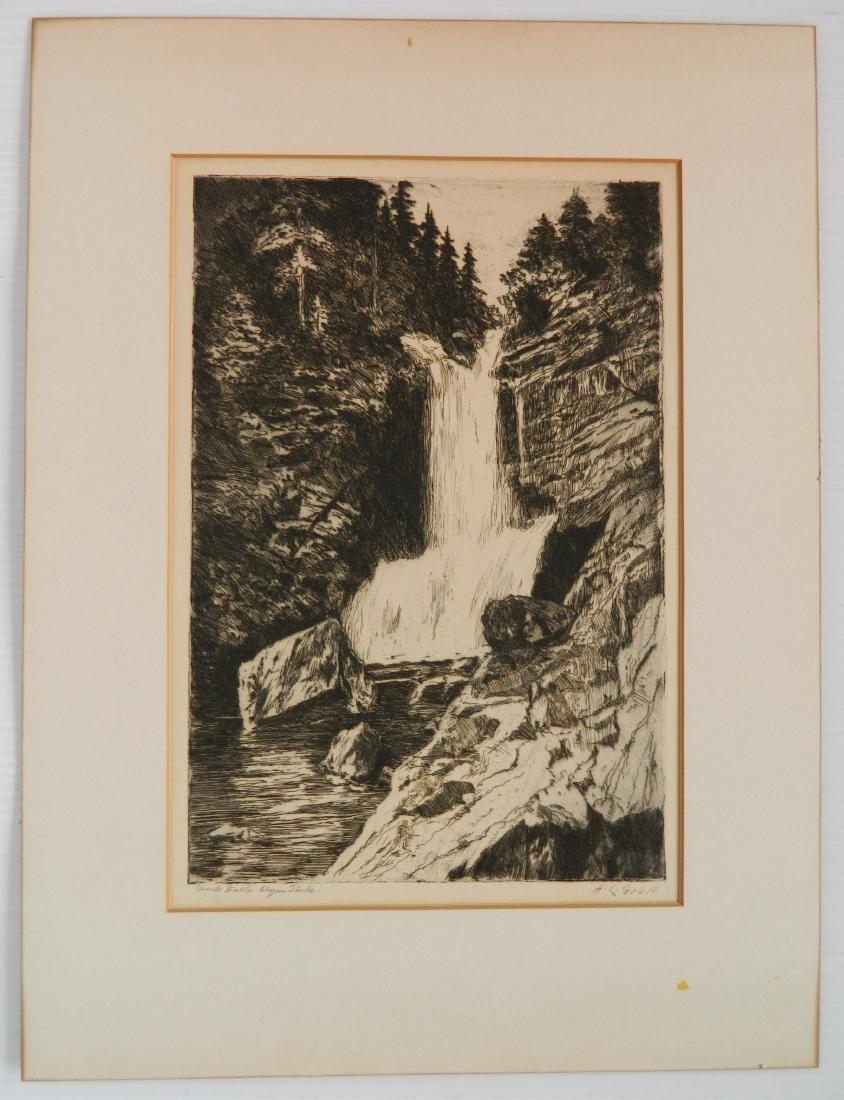 Albert L. Groll 2 etchings - 5