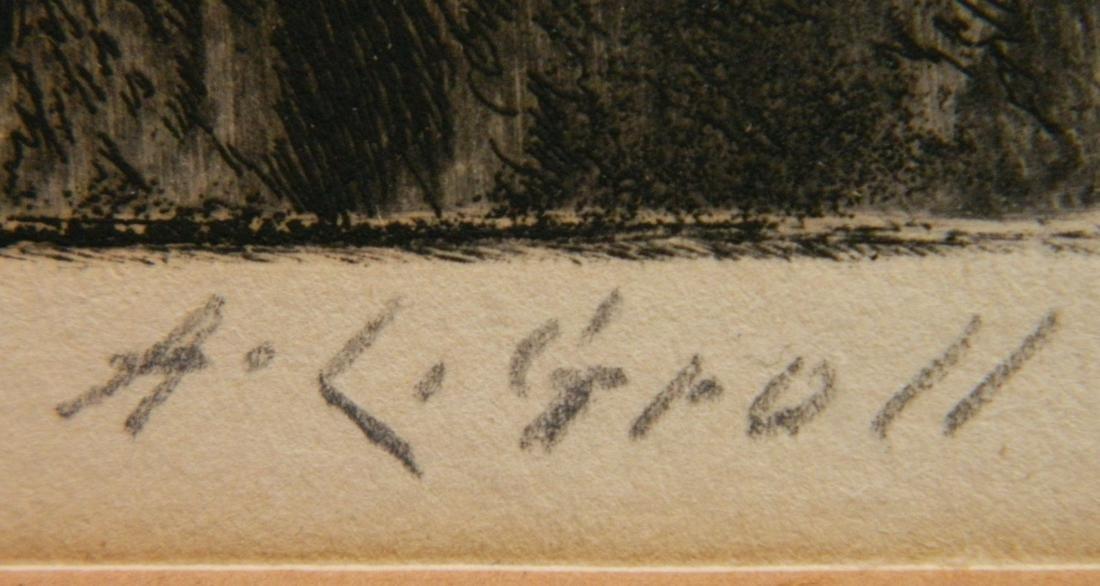 Albert L. Groll 2 etchings - 6