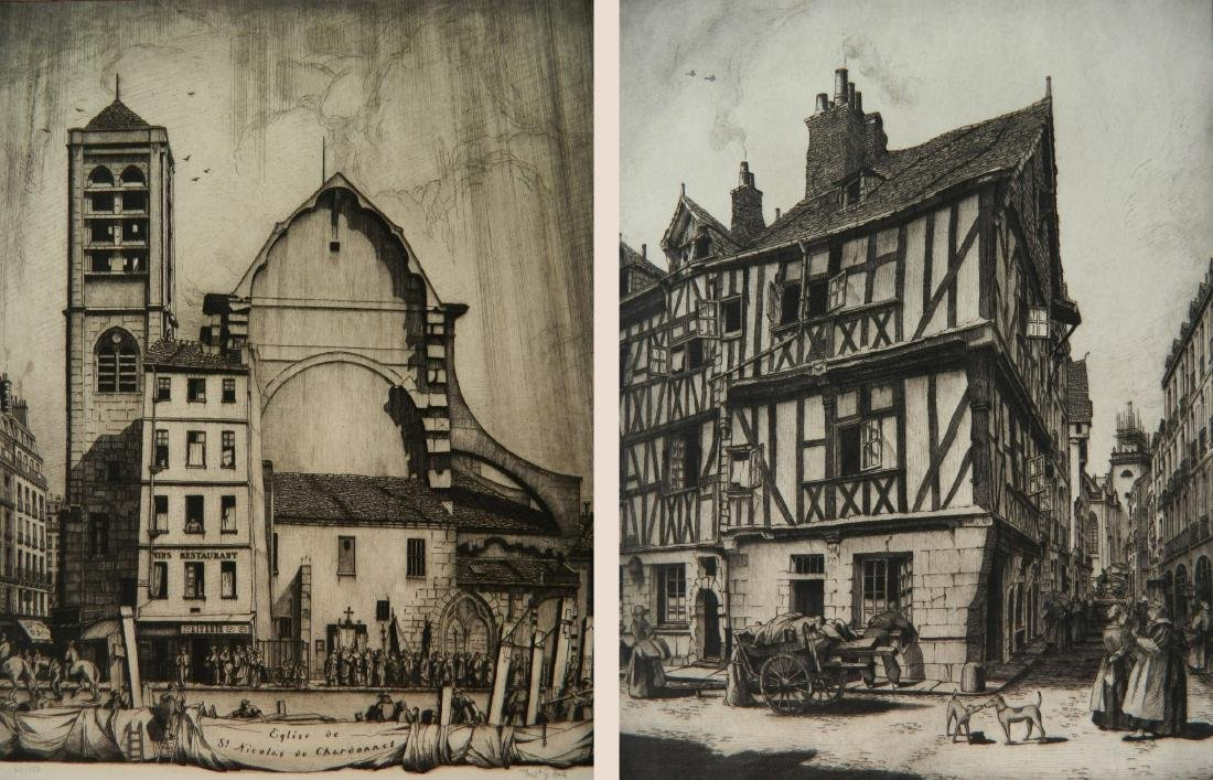 Frederick Hall 2 etchings