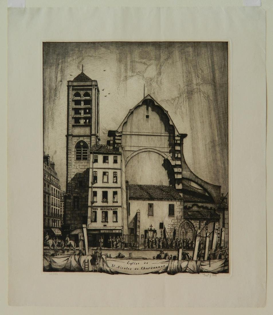 Frederick Hall 2 etchings - 2