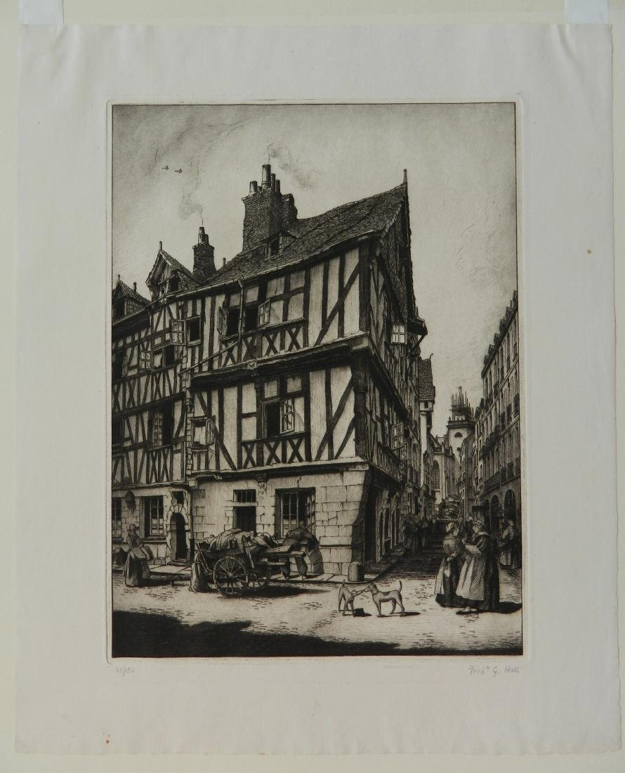 Frederick Hall 2 etchings - 6