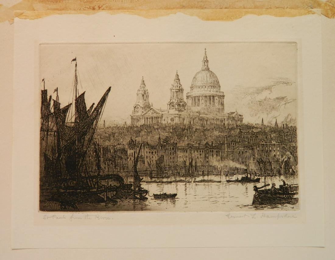 Ernest C. Hampshire etching - 2