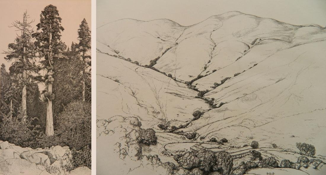 Ernest Haskell 2 etchings