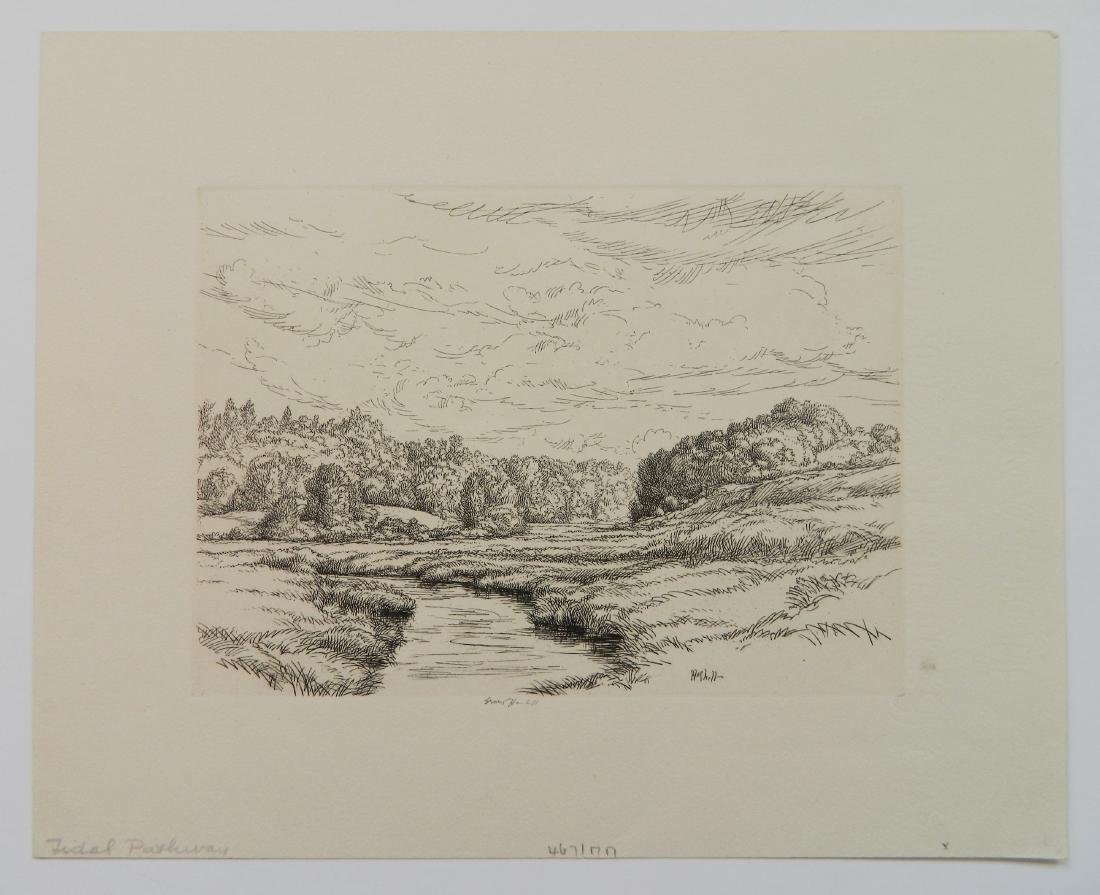Ernest Haskell 3 etchings - 8