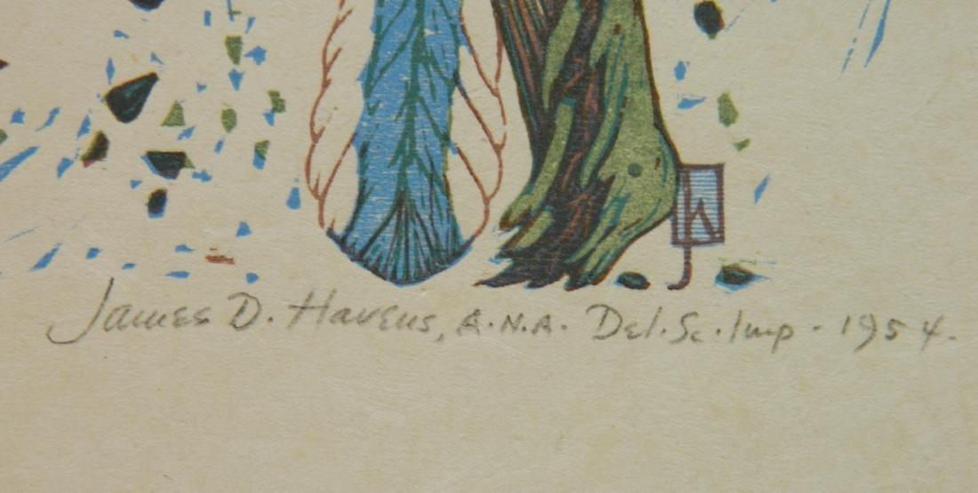 James D. Havens woodcut - 3