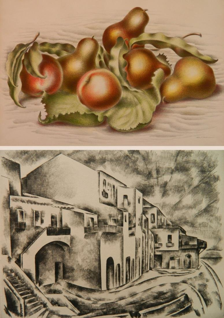 Albert Heckman 1 lithograph and 1 etching
