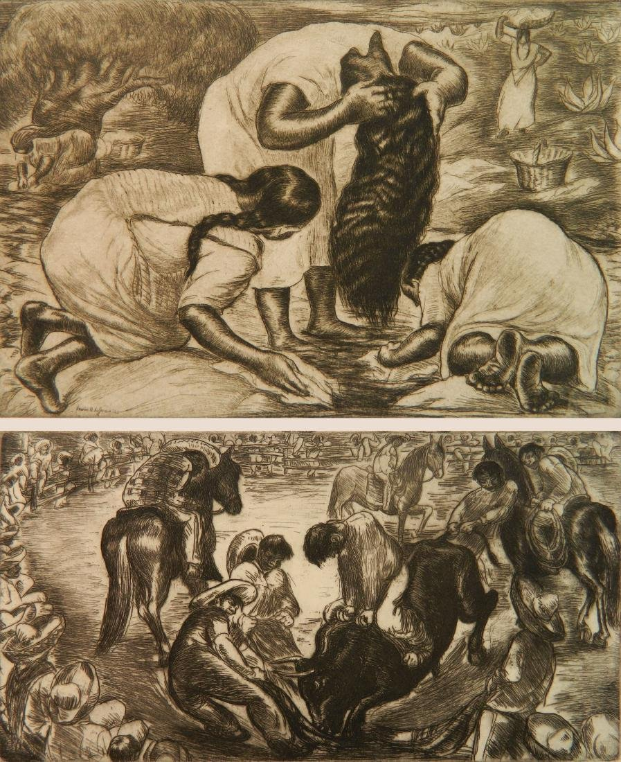 Irwin Hoffman 2 etchings