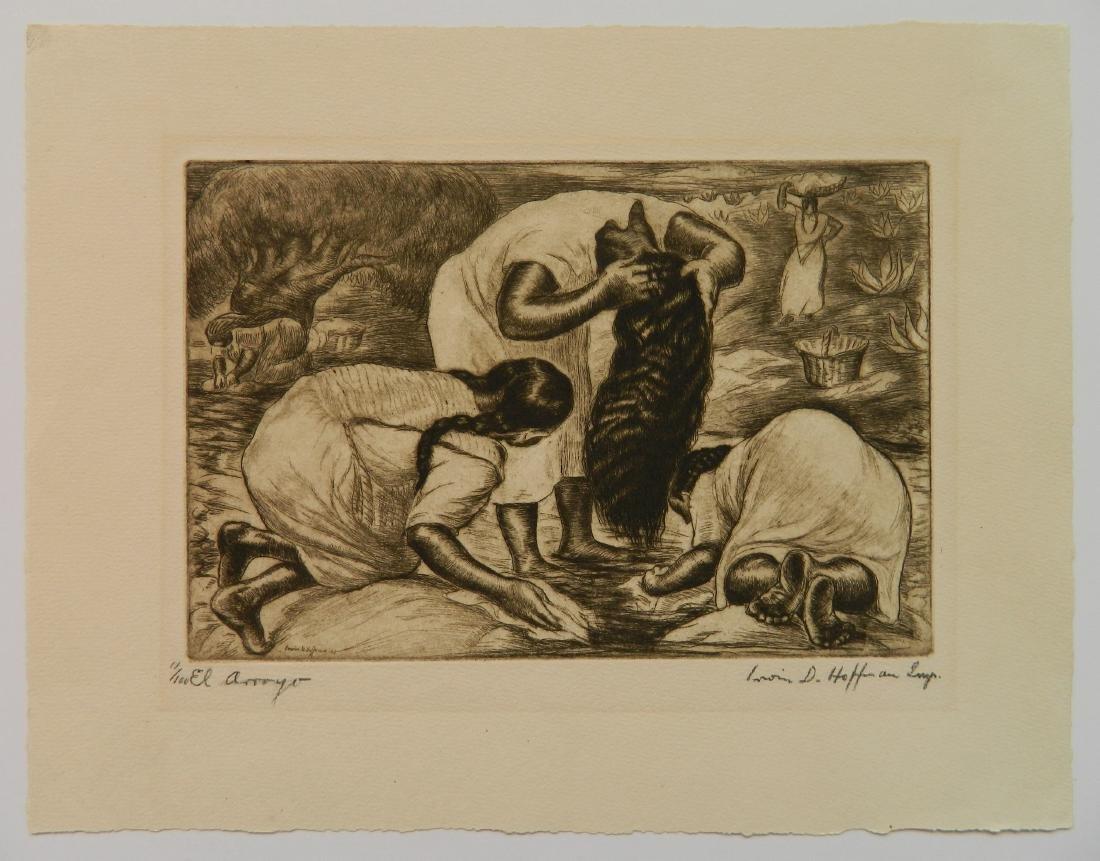 Irwin Hoffman 2 etchings - 2