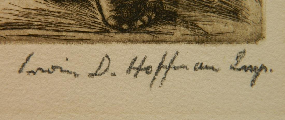Irwin Hoffman 2 etchings - 3