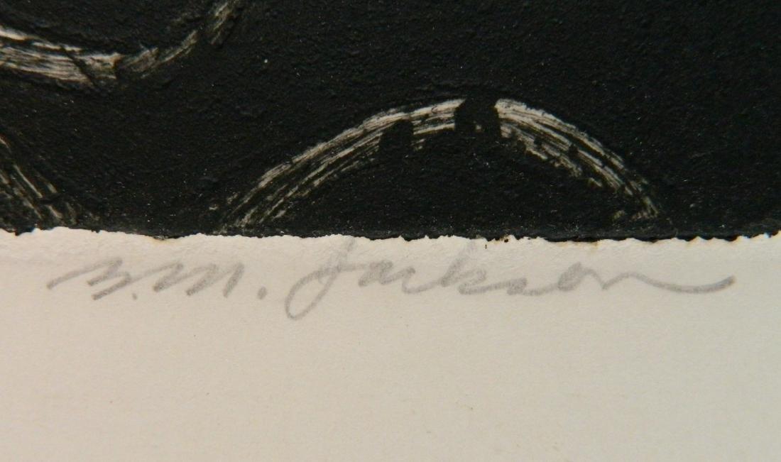 Billy Morrow Jackson etching - 2
