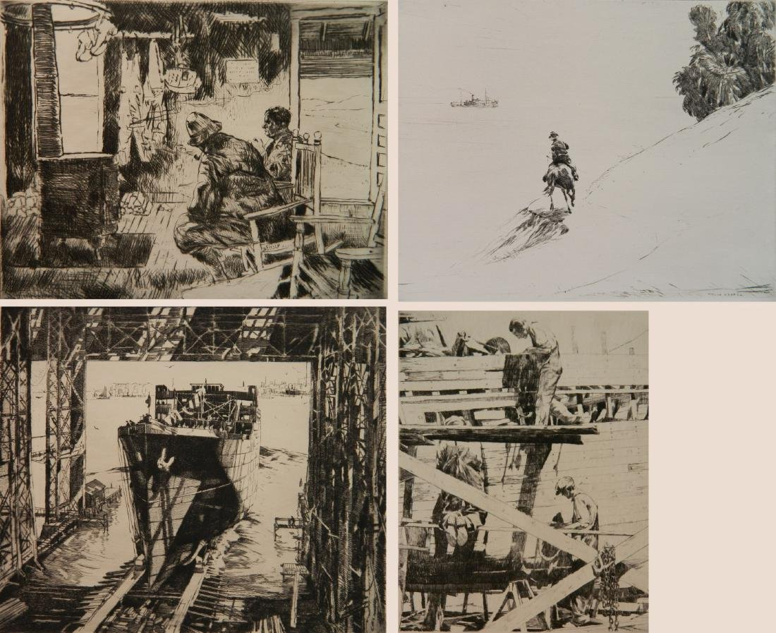 Philip Kappel 4 etchings