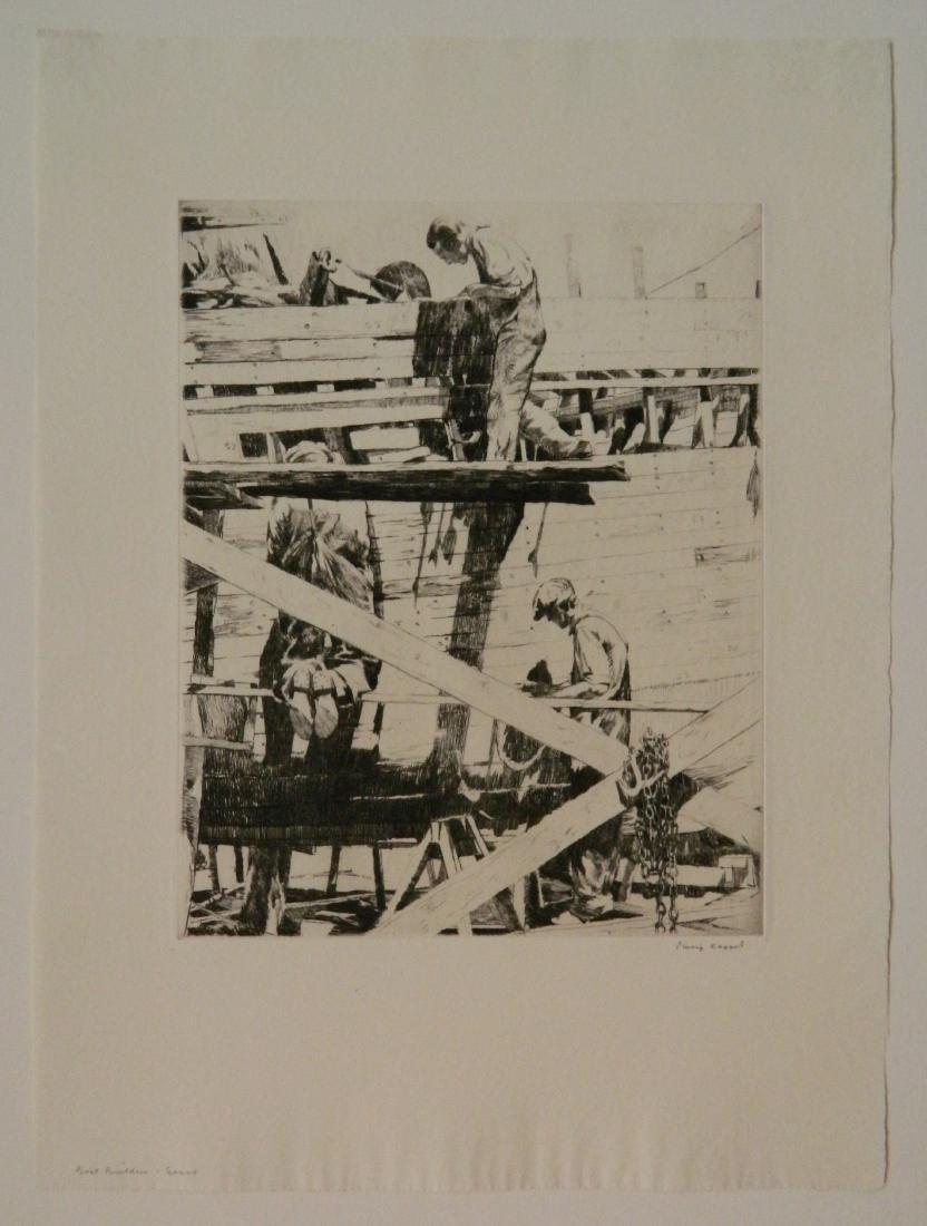 Philip Kappel 4 etchings - 2