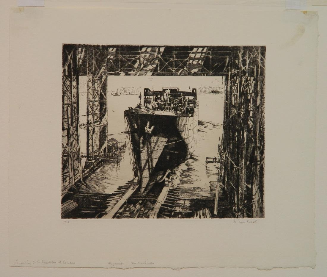 Philip Kappel 4 etchings - 6