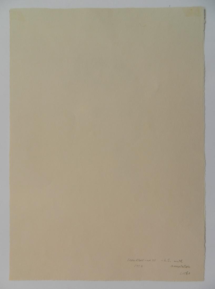 Leon Kroll lithograph - 4