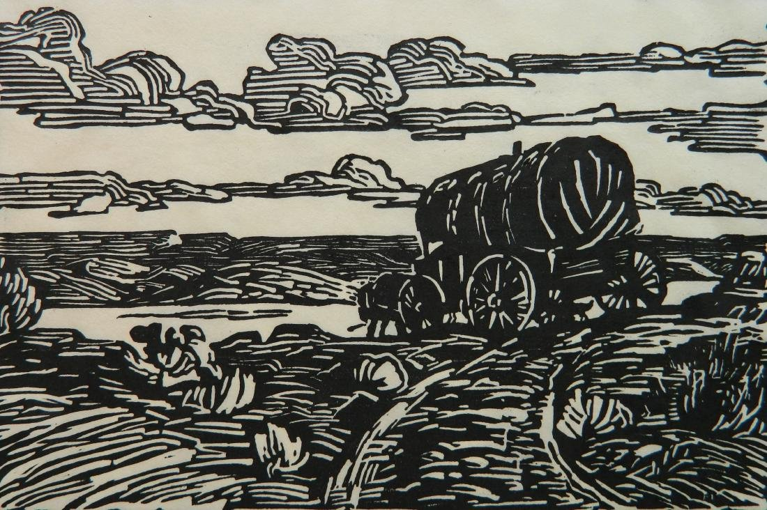 Harriet Kunter woodcut
