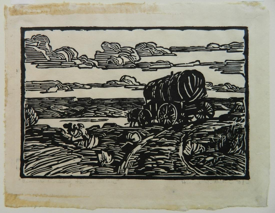 Harriet Kunter woodcut - 2
